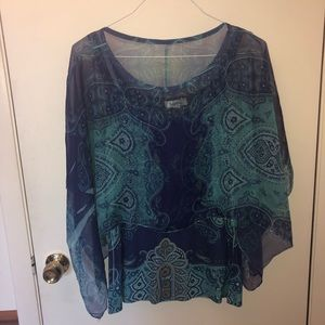Peacock Double Layer Blouse